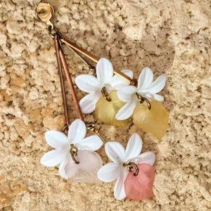 Fun fresh floral earrings